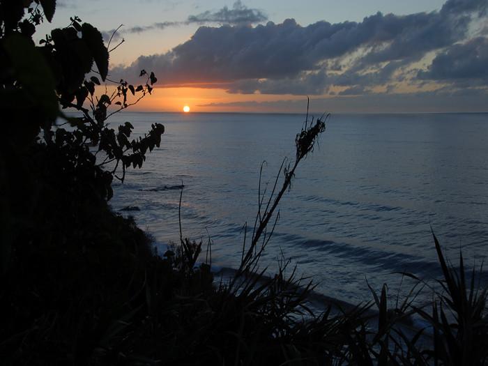 Farbenfroher Sonnenuntergang auf der Finca Urlaubstraum.