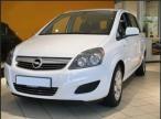 Vorderansicht vom weißen Opel Zafira 1.7 Diesel