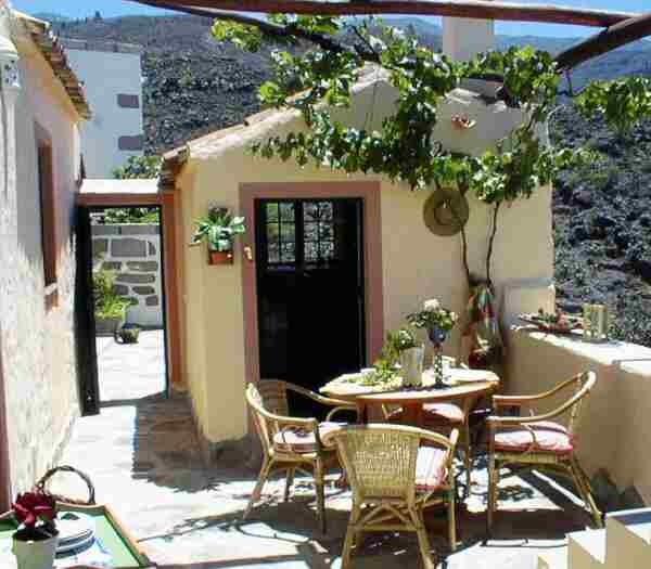 Küchenhaus der Casa Verde mit Terrasse und Meerblick in Guia de Isora auf Teneriffa