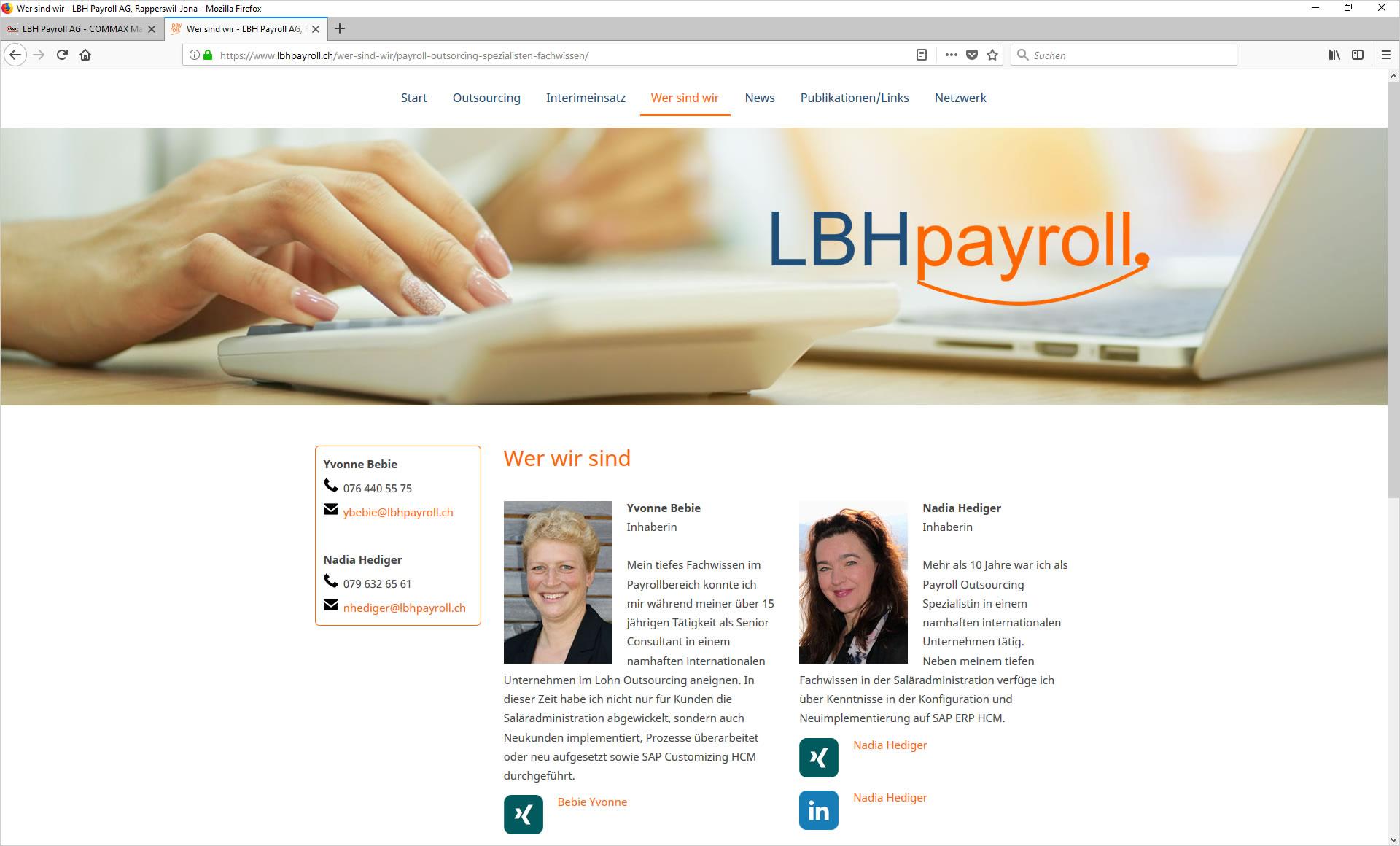 LBH Payroll AG, Rapperswil - Lohnbuchhaltungen und Lohnadministation