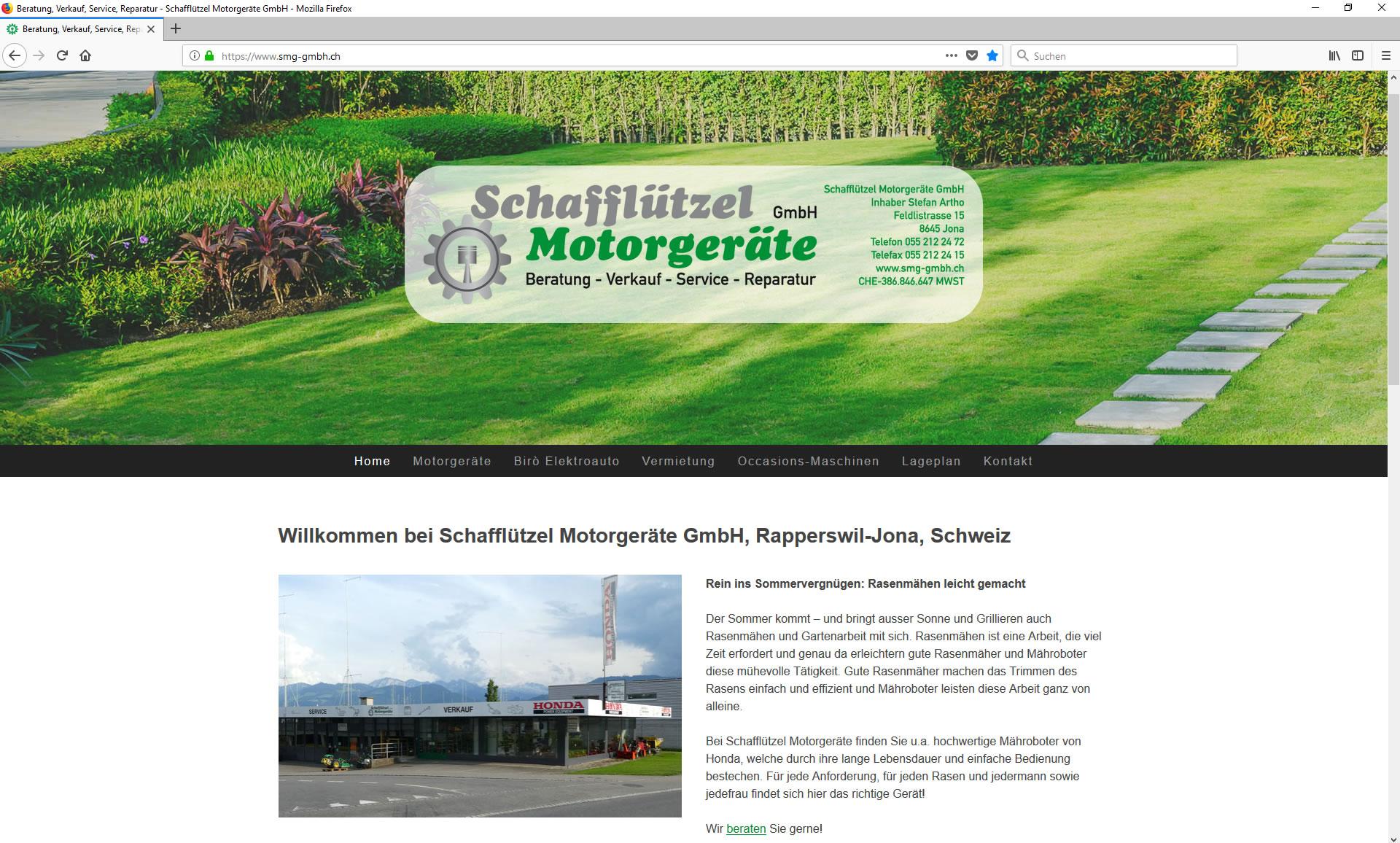 Schafflützel Motorgeräte GmbH, Jona - Inhaber Stefan Artho