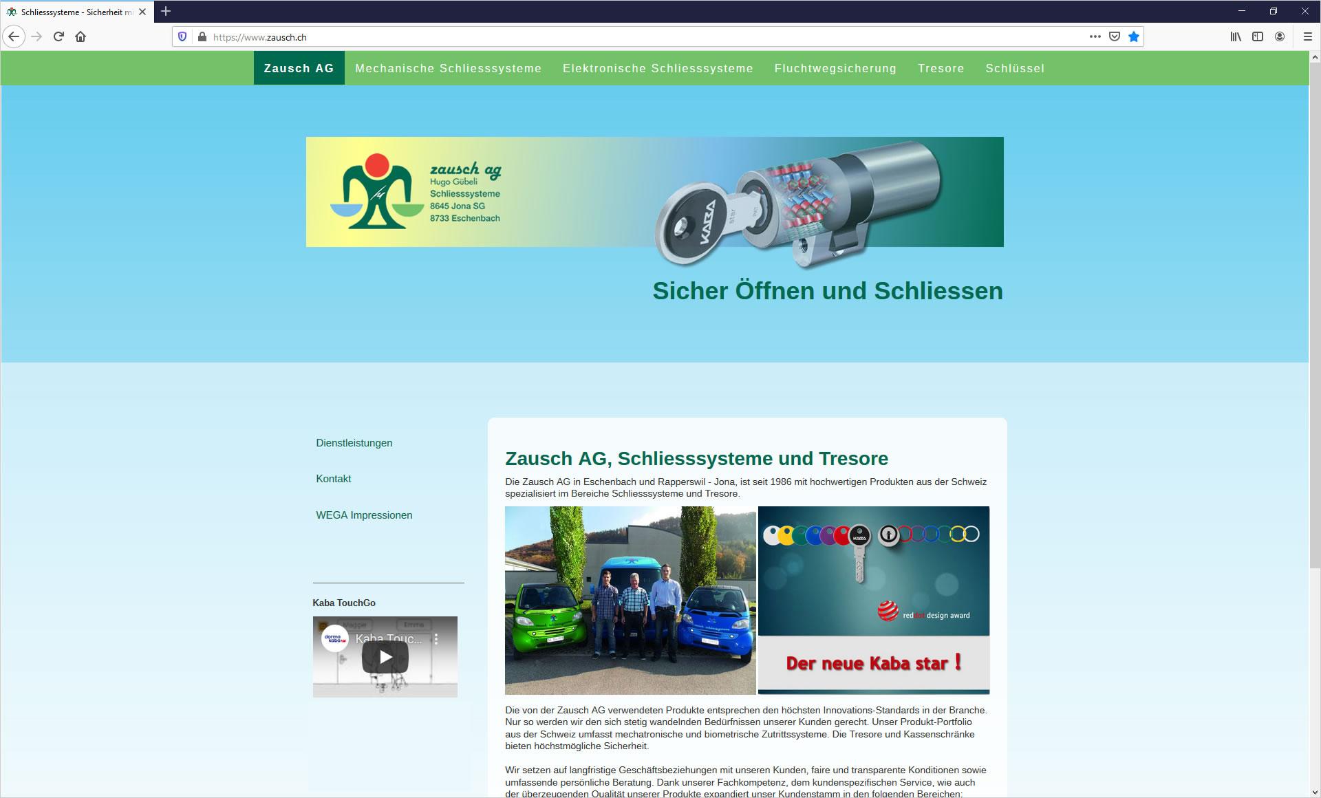 Zausch AG, Schliesssysteme und Tresore