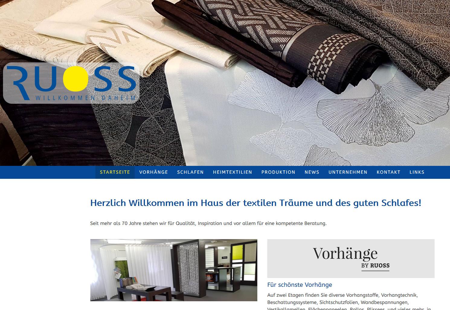 ROBERT RUOSS & CO. AG - Vorhang- und Bettwarenfachgeschäft, Schübelbach