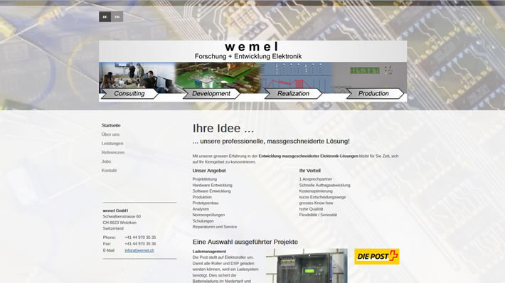 wemel GmbH Forschung & Entwicklung Elektronik