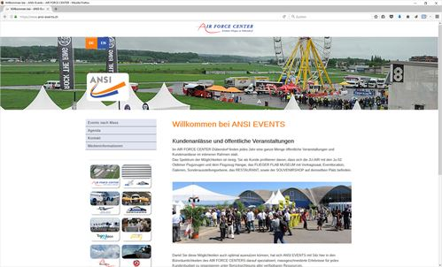 ANSI-Events im AIR FORCE CENTER, Dübendorf