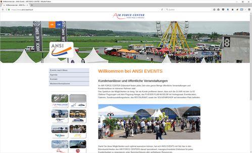 ANSI-Events im AIR FORCE CENTER, Dübendorf