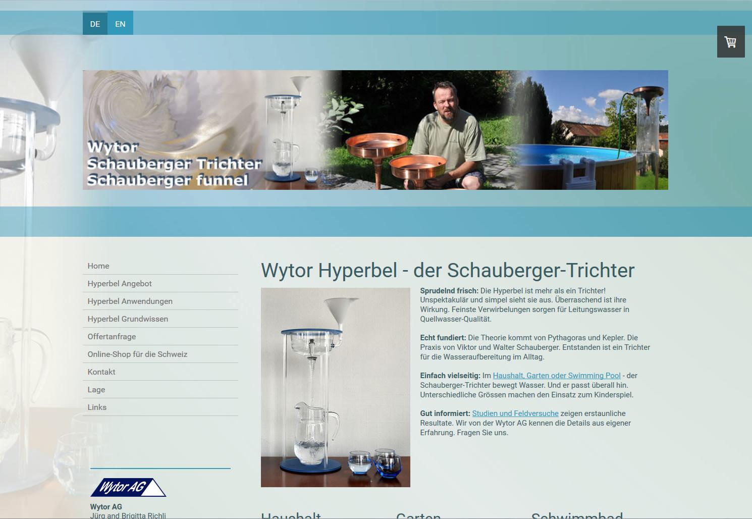 Wytor Hyperbel - der Schauberger-Trichter