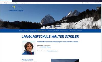 Langlaufschule Walter Schuler, Langlauf Alpthal bei Einsiedeln