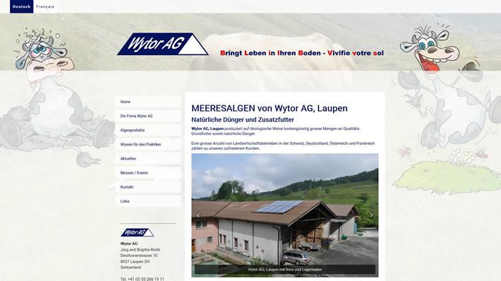 MEERESALGEN von Wytor AG, Laupen - Natürliche Dünger und Zusatzfutter