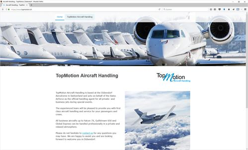 TopMotion Aircraft Handling im AIR FORCE CENTER Dübendorf
