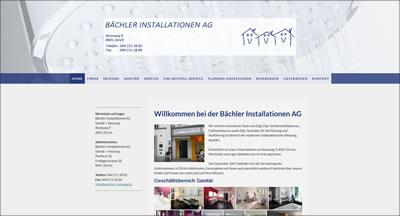 Bächler Installationen AG  Sanitär + Heizung, Zürich