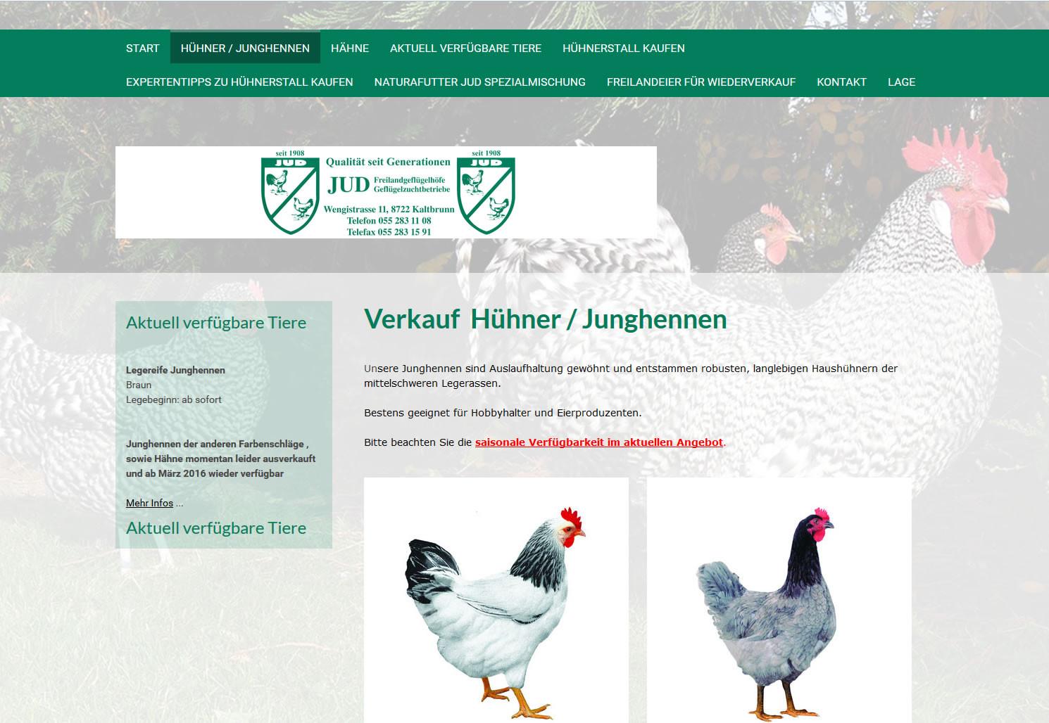 Geflügelzucht JUD, Kaltbrunn