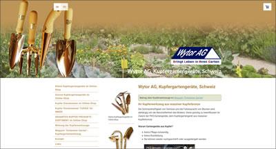 Kupfergartengeräte von Wytor AG Laupen