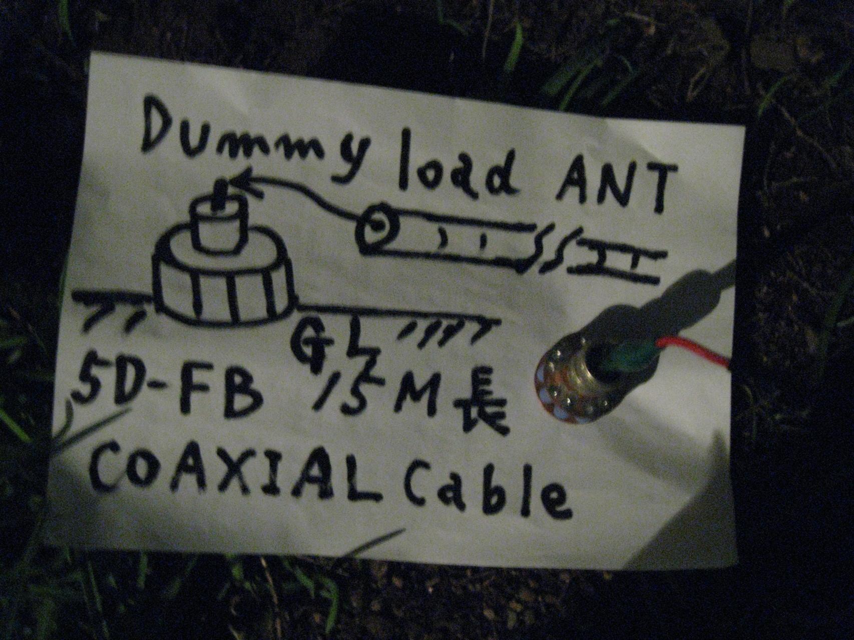 地上高ゼロメートル/地面置きDummy Load ANT