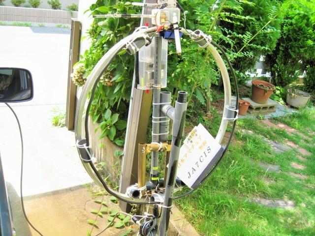 Φ直径65cmMLA(JK1IDV製作で当局が譲渡を受け、同調機構等一部を変更いたしました。)1.3mH垂直LOOP-TOP高
