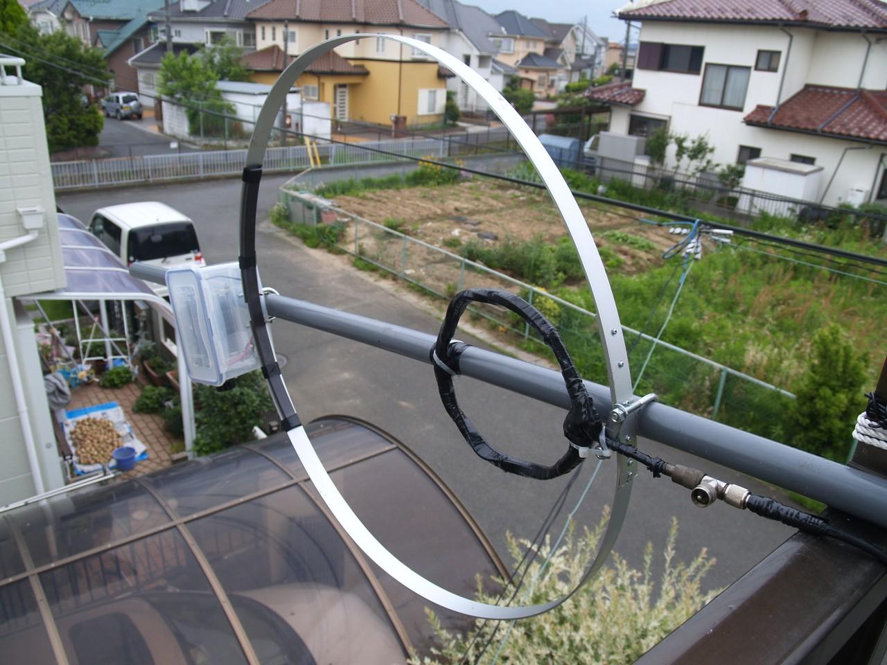 直径110cmMLA:自宅2Fベランダでの垂直設置運用状況