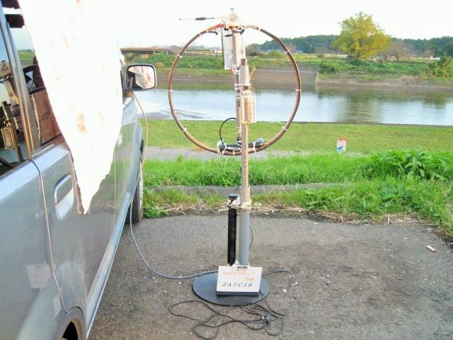 Φ直径65cmMLA(ファラデイシールド給電LOOPサイズ直径15CMに変更及び1040PVCに変更1.3mH垂直LOOP-TOP高