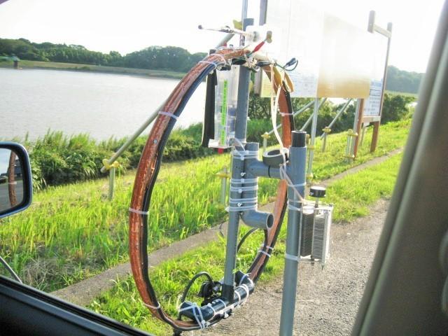 Φ直径65cmMLA(ファラデイシールド給電LOOPサイズ直径13CMに変更及び1040PVCに変更1.3mH垂直LOOP-TOP高