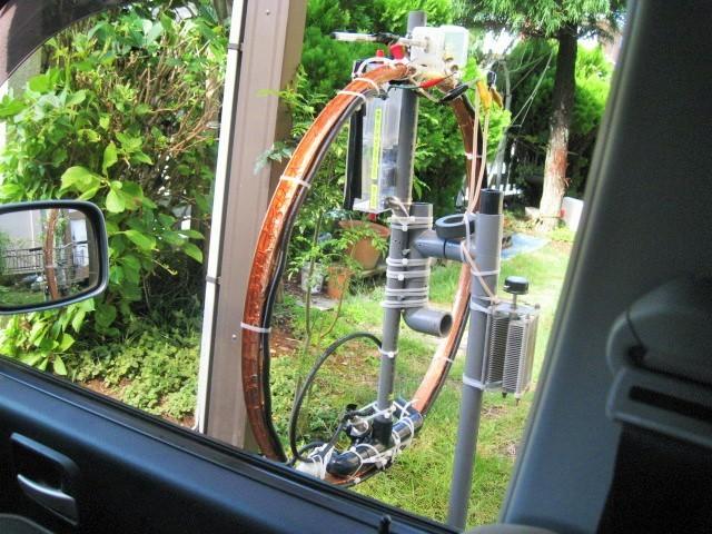 Φ直径65cmMLA(銅箔でリムを包み込み、ファラデイシールド給電LOOP及び1040PVCに変更1.3mH垂直LOOP-TOP高