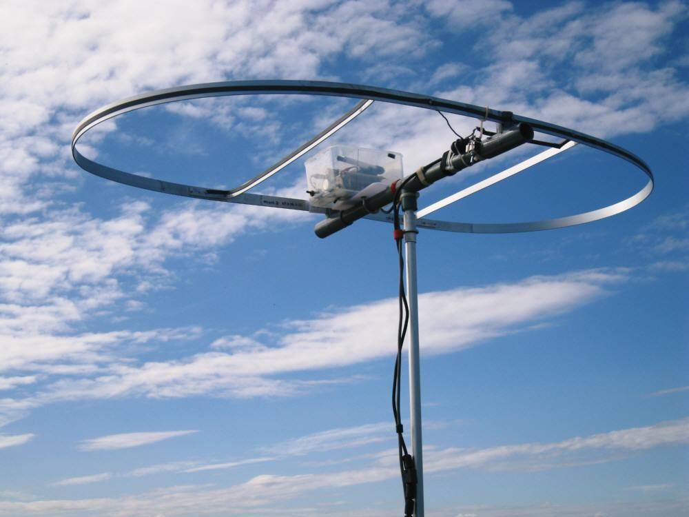 全周長400cm(内L260cm)MLA:ダブル・ループMLA:CIS-MLAと命名:(自作1:1バランを給電部に入れて水平設置運用)