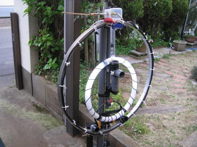 Φ直径65cmMLA(JK1IDV製作で当局が譲渡を受け、同調機構等の一部を変更いたしました。)1.3mH垂直自宅運用