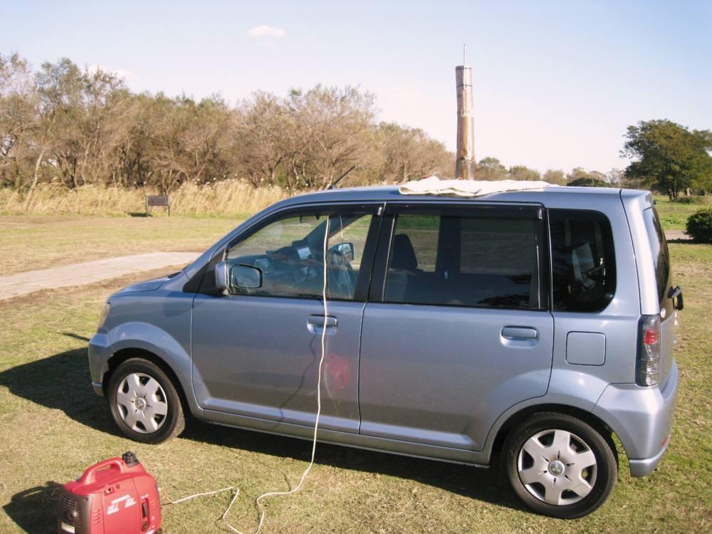 7~29MHZ用miniVCH 全長65cm:車上置きで約2mH/SWR値1.0~1.1