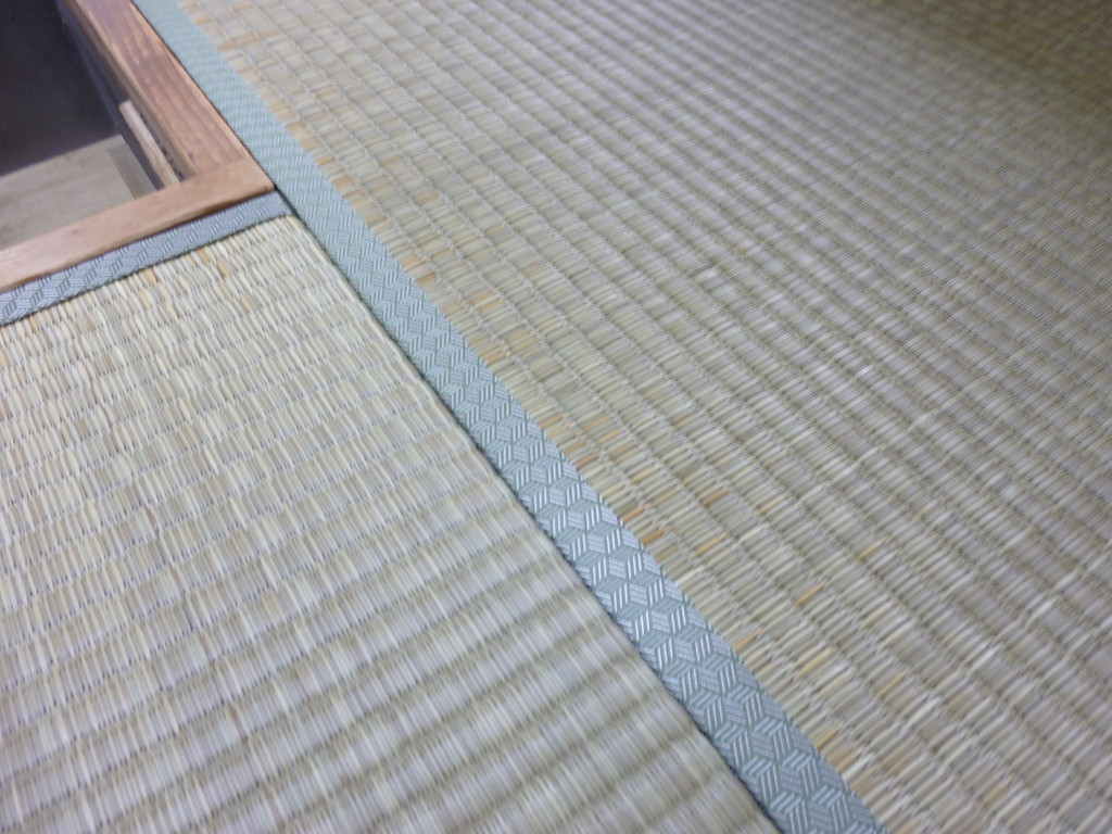 日光市土沢のお客様宅施工例。。ヤンバル畳。