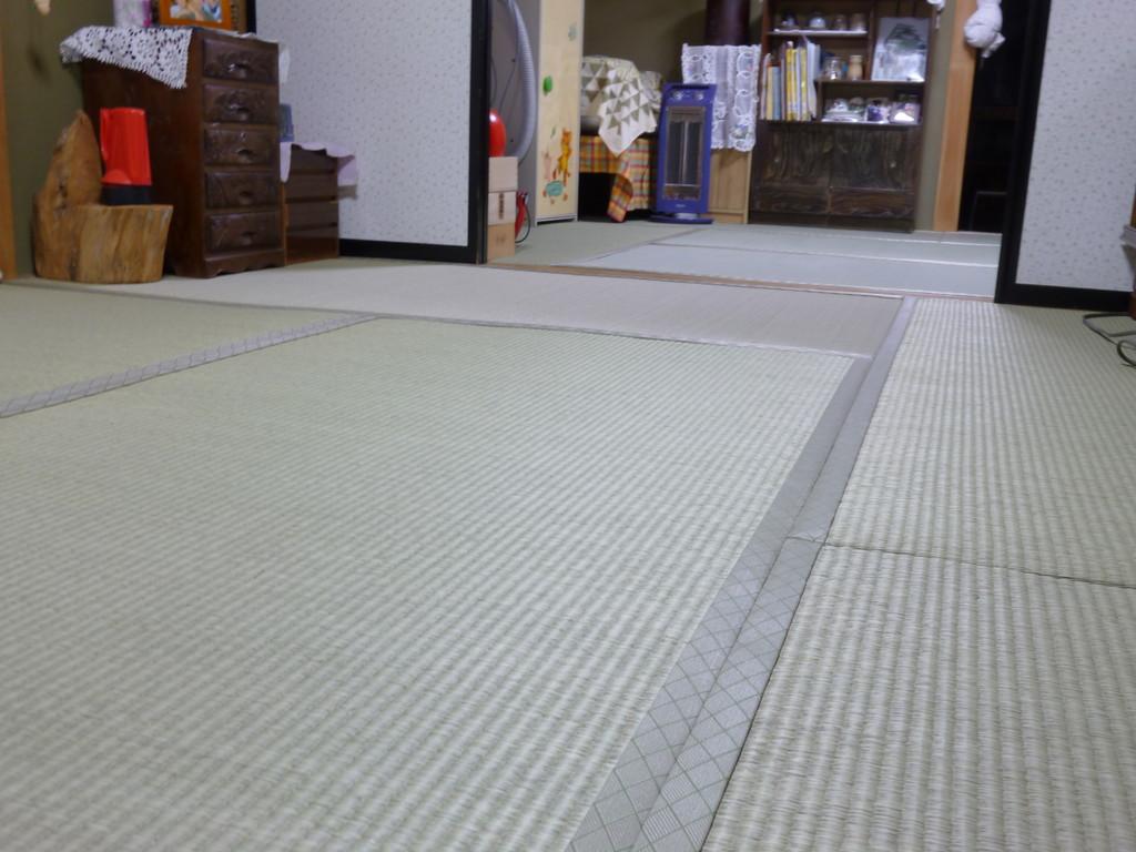 鹿沼市のお客様宅施工例。。アオ畳表畳。