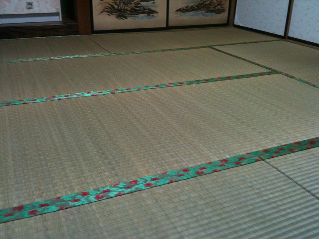 日光市足尾のお客様宅施工例。。ヤンバル畳。