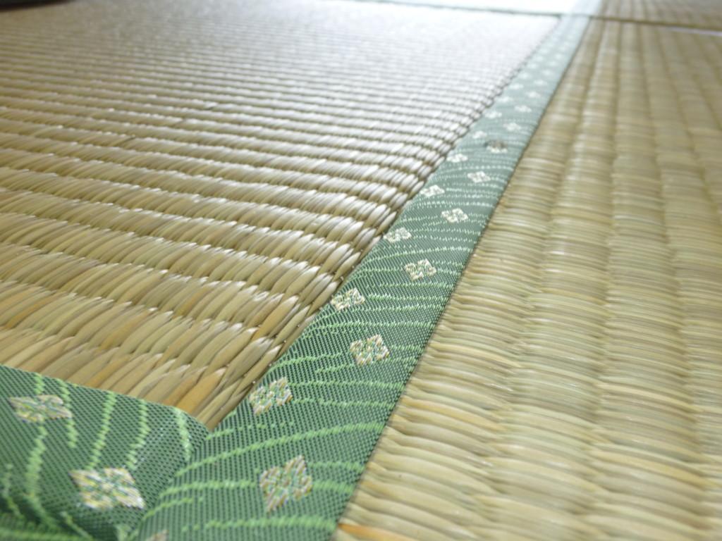 日光市のお客様宅施工例。。ヤンバル畳。