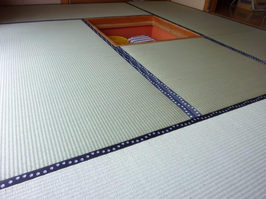 日光市のお客様宅施工例。。アオ畳表畳。