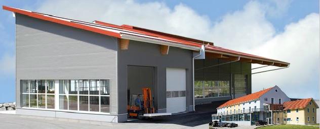 Errichtung der neuen Lagerhalle (2007 - 2008)
