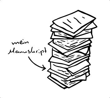 Wie hebt man das eigene Manuskript hervor?