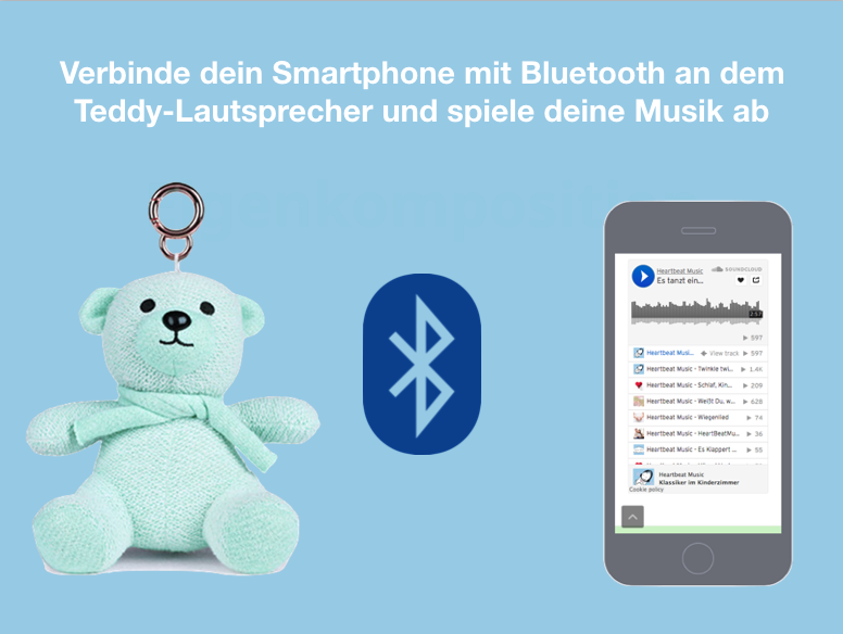 Schließe dein Smartphone mit Bluetooth am Teddy-Lautsprecher an