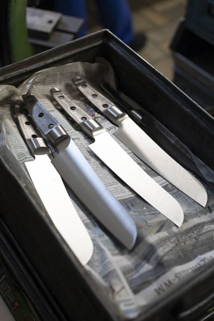 Messerrohlinge geschmiedet