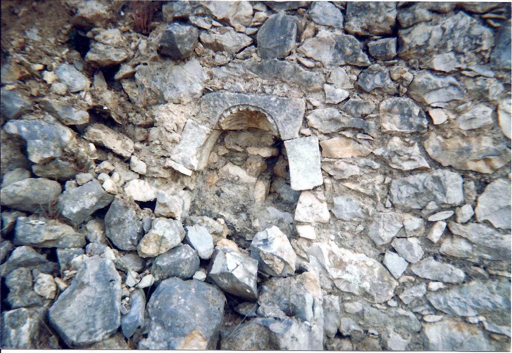Niche probablement cestige de l'église en 1725