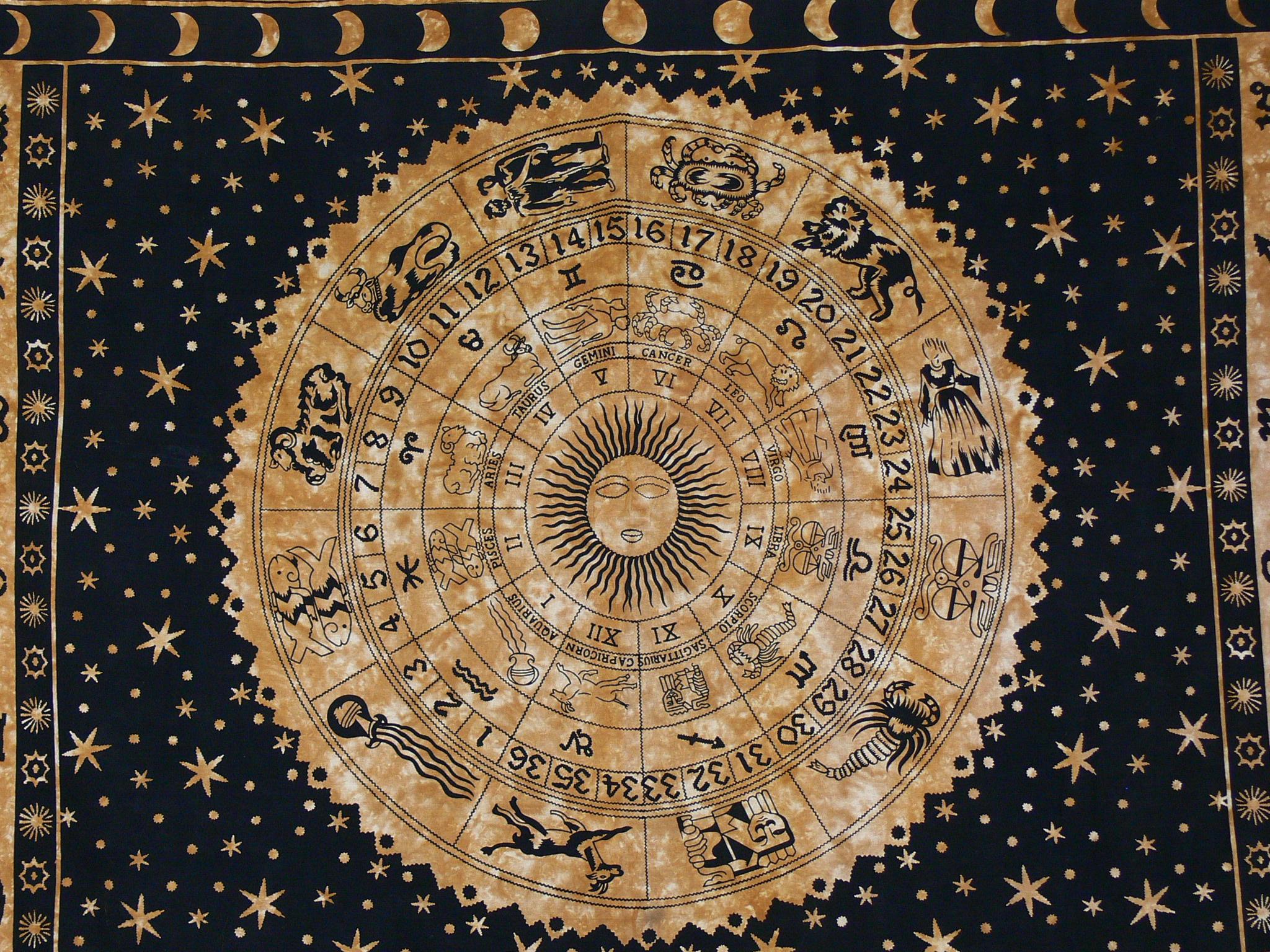 das mystische Rad der Sternzeichen