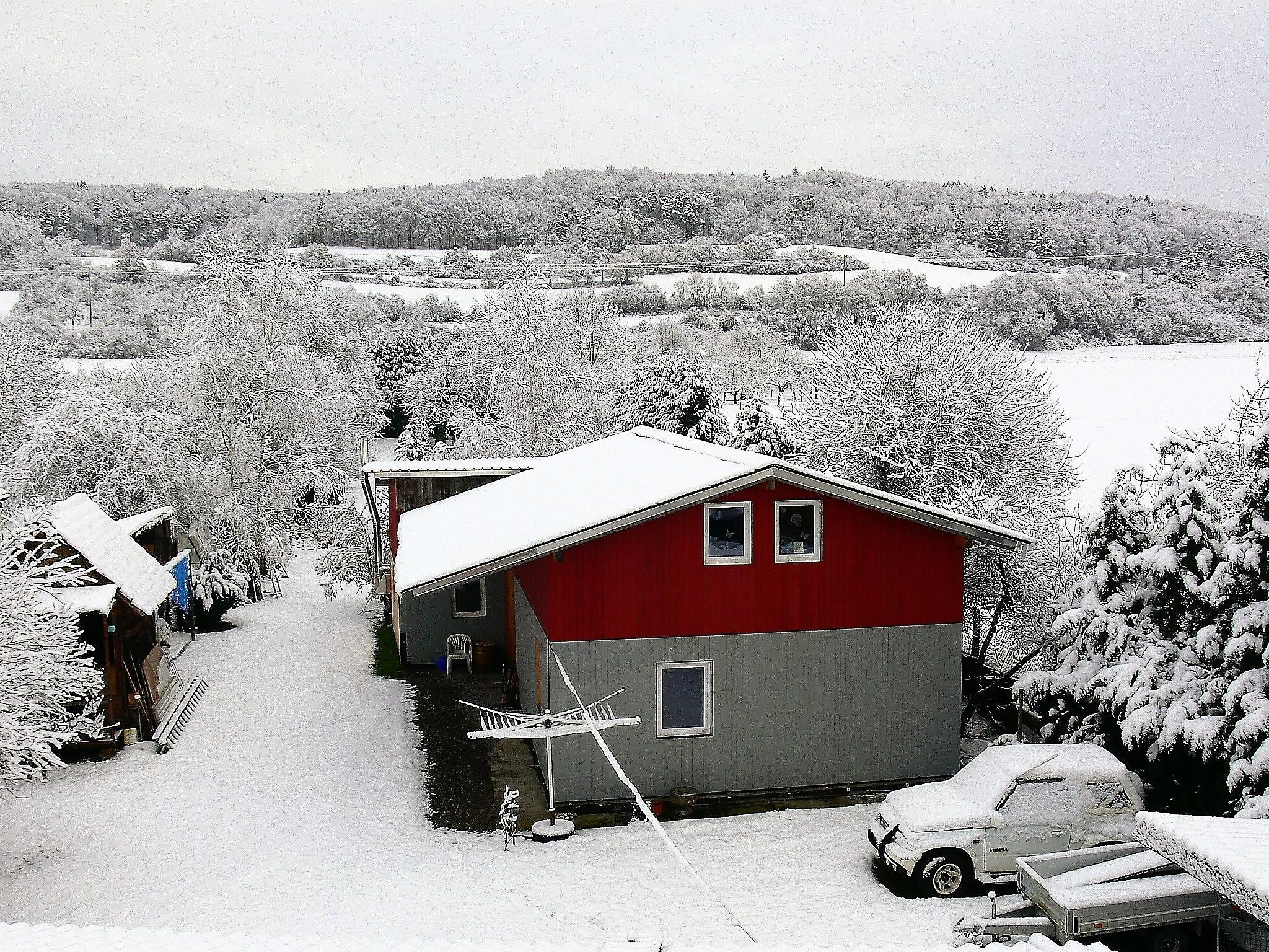 Gesundheitsschuppen im Schnee
