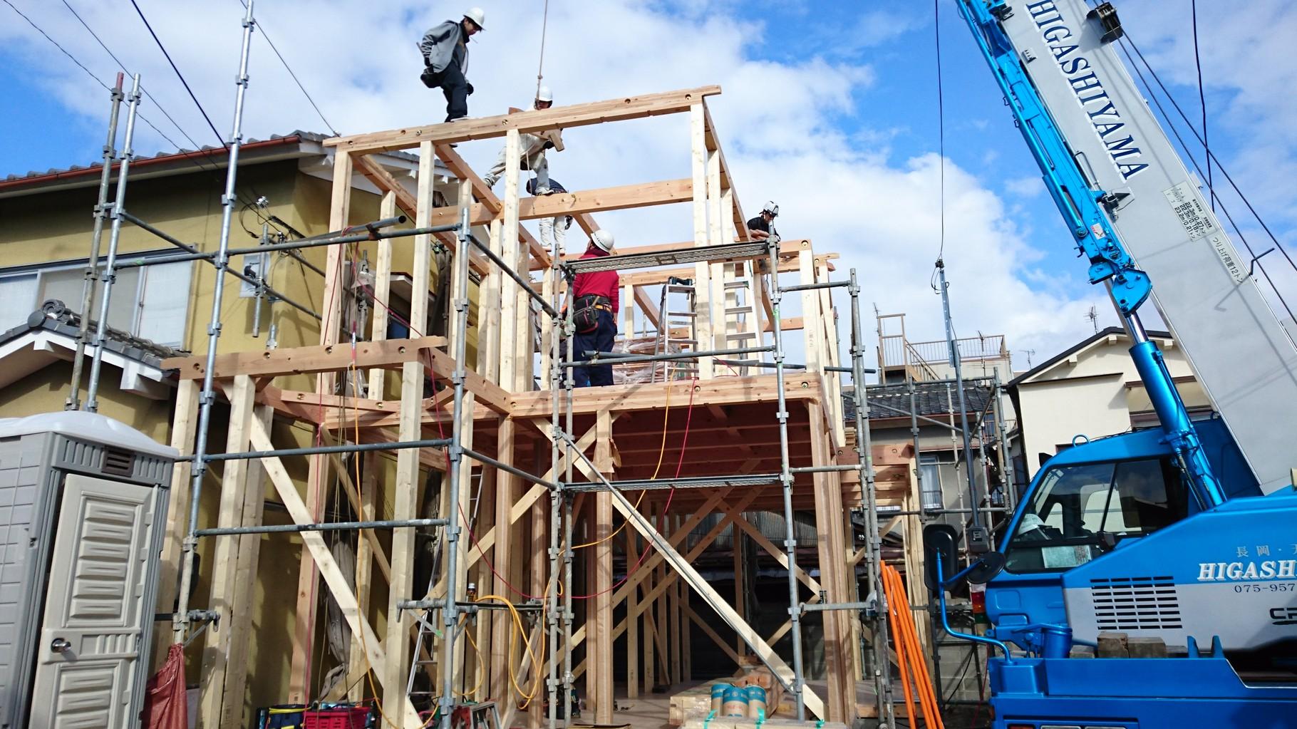2階柱建て梁