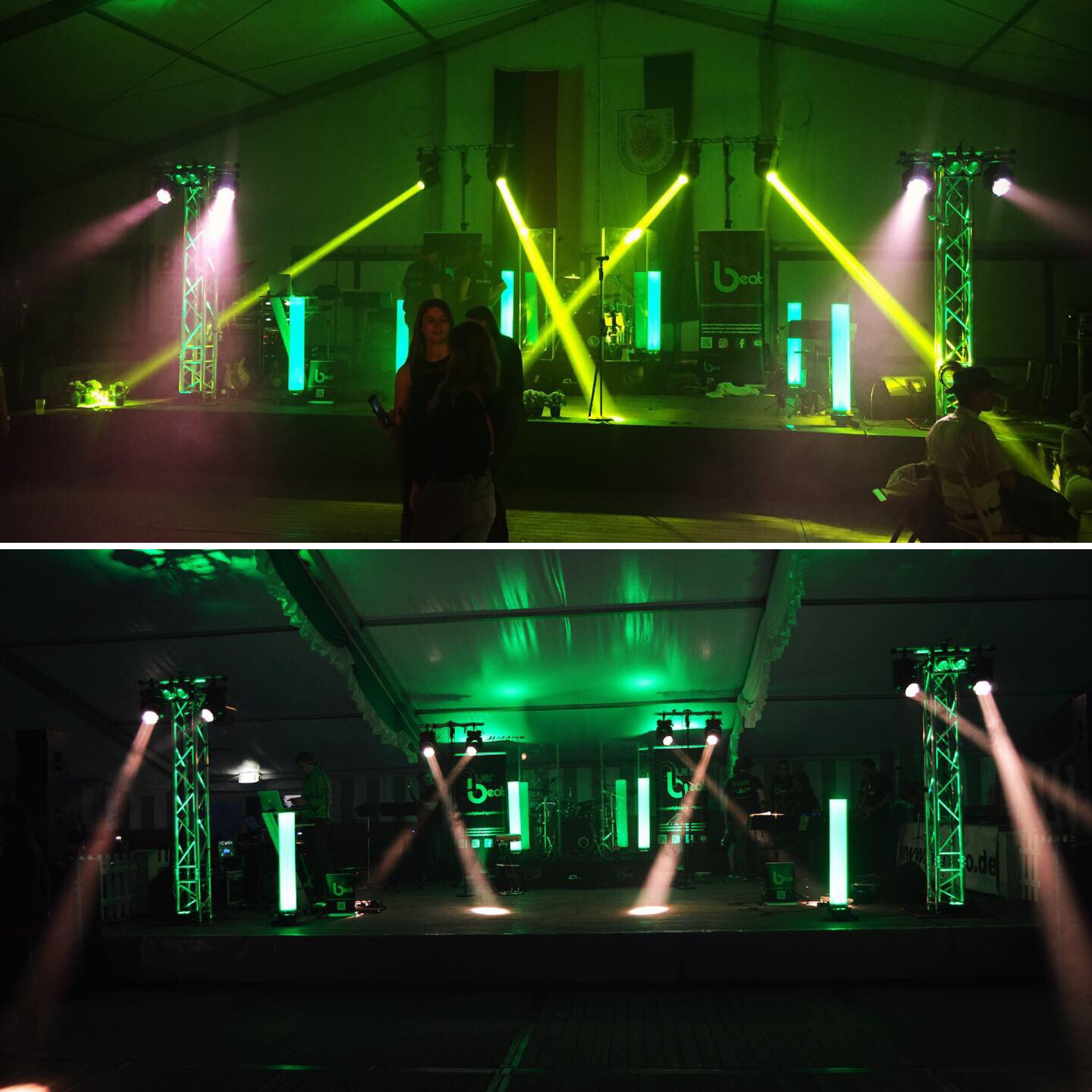 Partyband Querbeat Tour 2019 - Lichttechnik