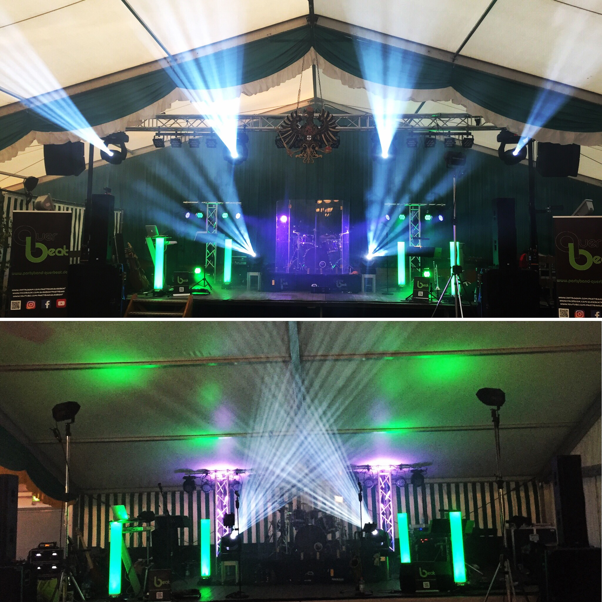 Partyband Querbeat Werl & Nordbögge 2018 - Licht- und Tontechnik