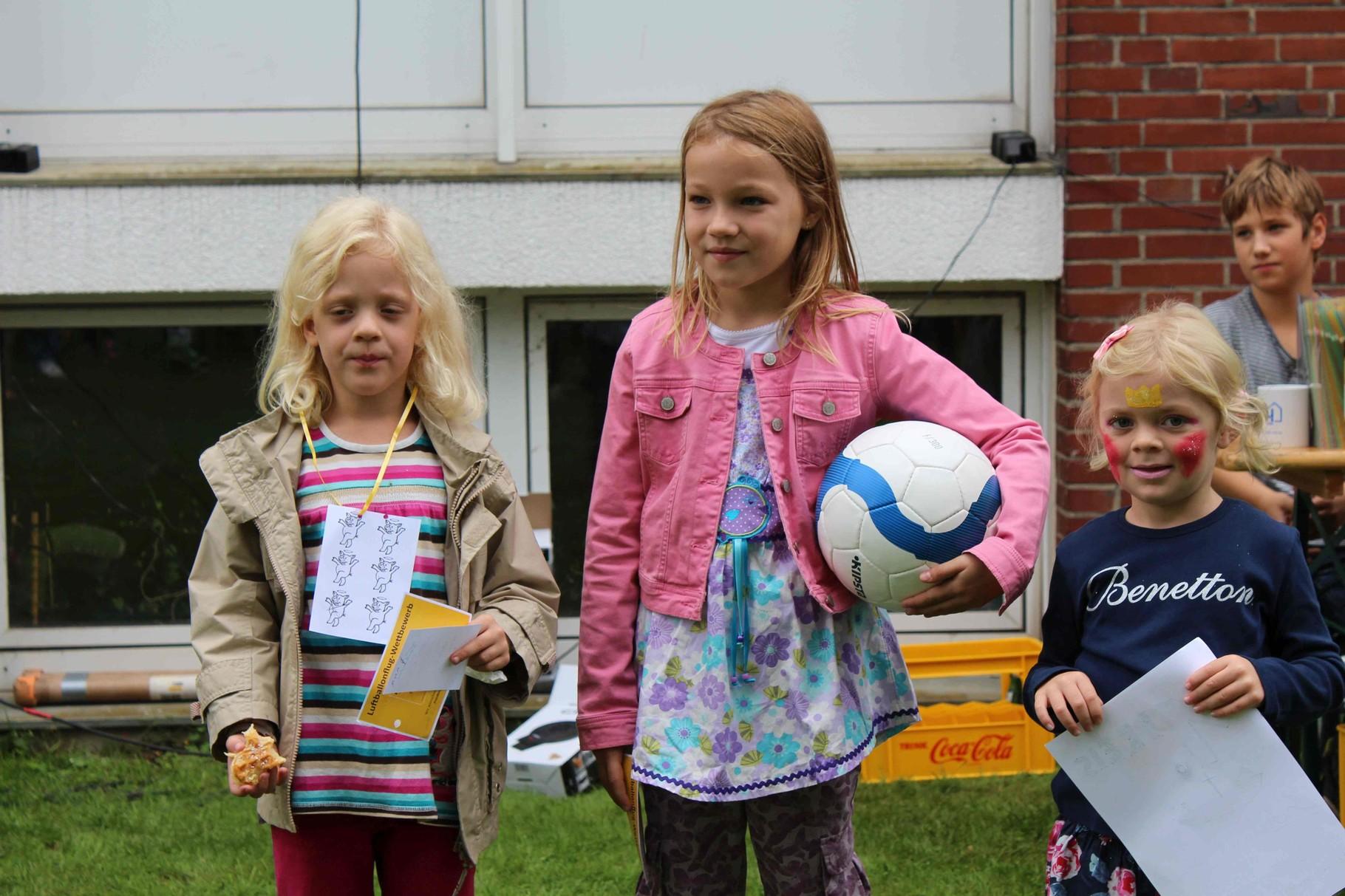 Die Ballons der drei Gewinnerinnen flogen alle über 100km bis in die Niederlande