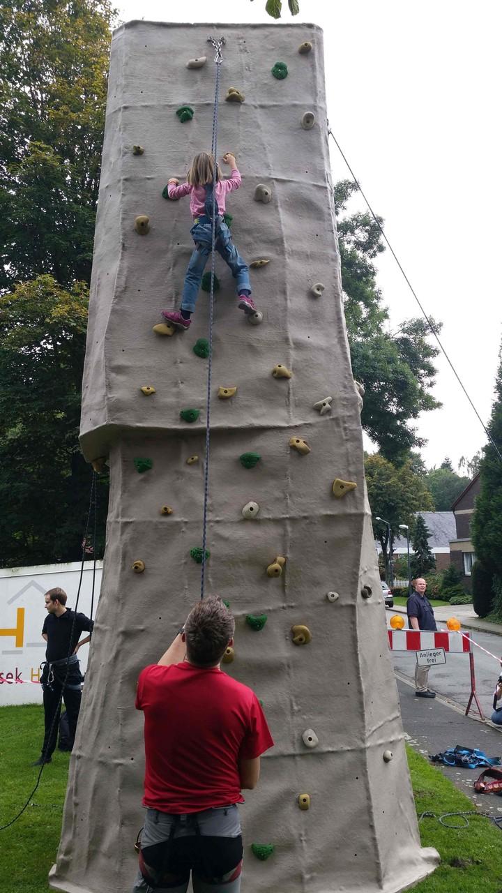 Die ohne Probleme bis oben klettert