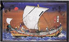 北上川を下る平田船