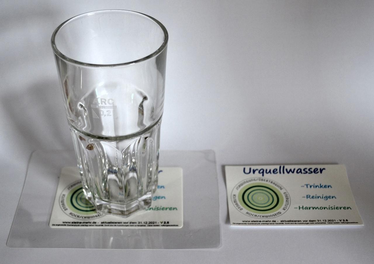 Urquellwasser Aufkleber / Untersetzer