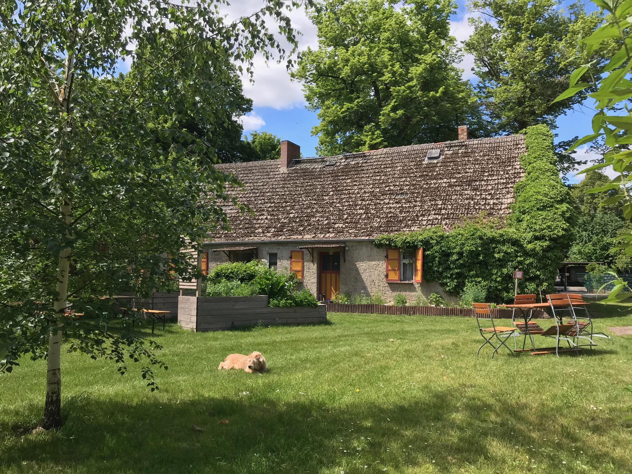 Das Lange Haus, Blick von der Landpraxis aus