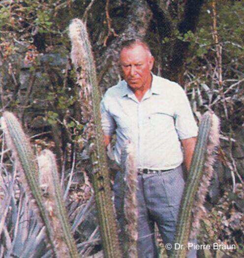 Leopoldo Horst & Pilosocereus braunii, Bahia 1983