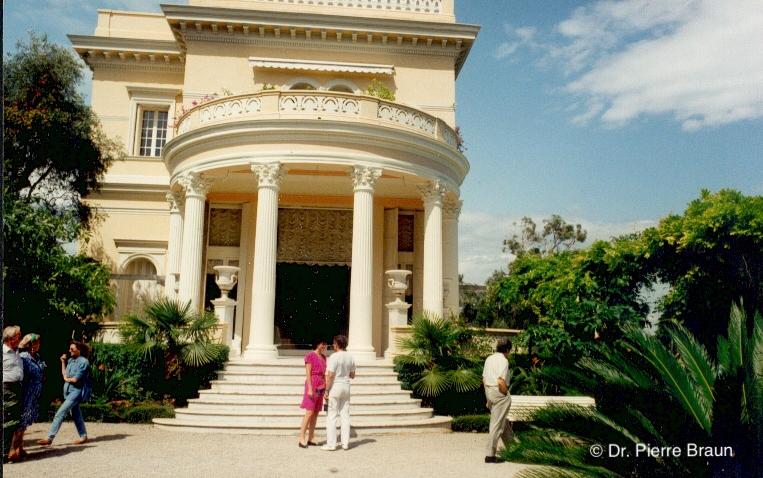 Villa Rothschild Cote d´Azur 1992, John & Mireille Lavranos (links/left), Beate Braun & Dr. Jean Marc Chalet (Mitte, center)