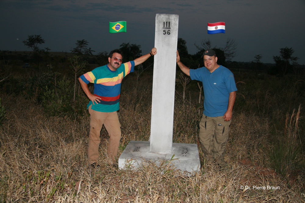 with Dr. Richard Esteves at the border between Mato Grosso do Sul / Brazil and Paraguay 2007