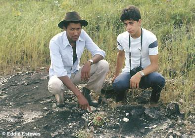 Dr. Charles Esteves Pereira (r), Habitat Discocactus squamibaccatus, Goias, ca. 1973
